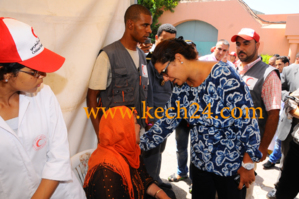 فاطمة الزهراء المنصوري عمدة مراكش تزور عائلات ضحايا فاجعة تادارت