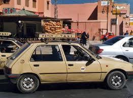 سيارة الأجرة الصغيرة رقم 211 تتسبب في حادثة سير