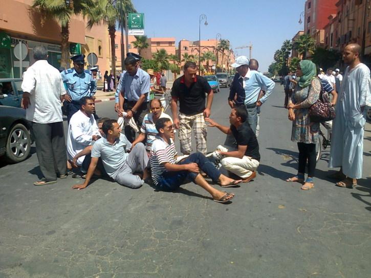 احتجاجات المعطلين بقلعة السراغنة