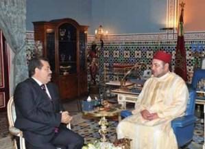 الملك محمد السادس يستقبل حميد شباط الأمين العام لحزب الاستقلال بمراكش