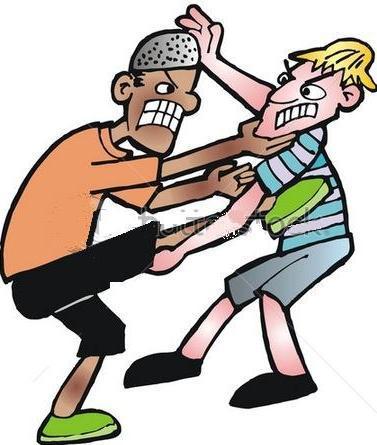 السب والشتم بين شخصين في الشارع العام بالمحاميد