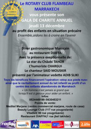 نادي روطاري المشعل مراكش ينظم حفلا خيريا لفائدة الاطفال في وضعية صعبة بالجهة