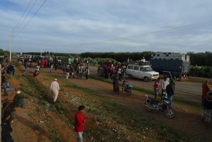اعتقالات وإصابات في صفوف المحتجين والقوات العمومية بإقليم قلعة السراغنة