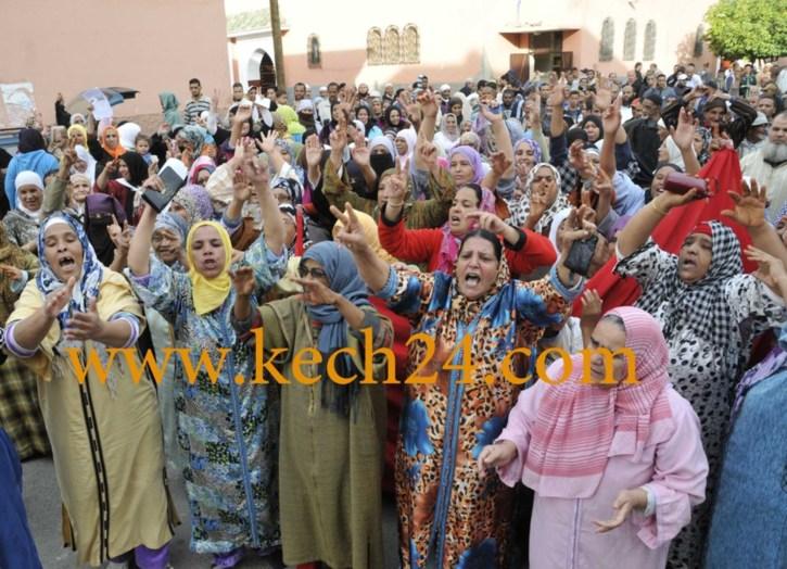 غلاء فواتير ( راديما ) يخرج سكان الداوديات والسيبع بمراكش من بيوتهم