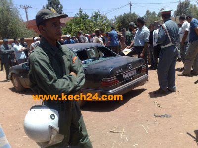 مواجهات بالحجارة بين أنصار حزب الميزان و الحمامة بإمنتانوت.
