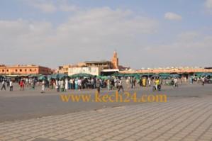 استعدادات أمنية مكثفة لاستقبال زوار مراكش في عطلة نهاية السنة تبدأ من ساحة جامع الفنا