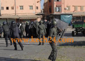 عاجل : تجدد المواجهات بين المحتجين والقوات العمومية بحي سيدي يوسف بن علي