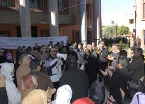وقفة احتجاجية لأسرة التعليم تنديدا بتصريحات محمد الوفا