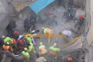 عاجل : انهيار حائط بشارع المصلى وإصابة شخص بجروح خطيرة