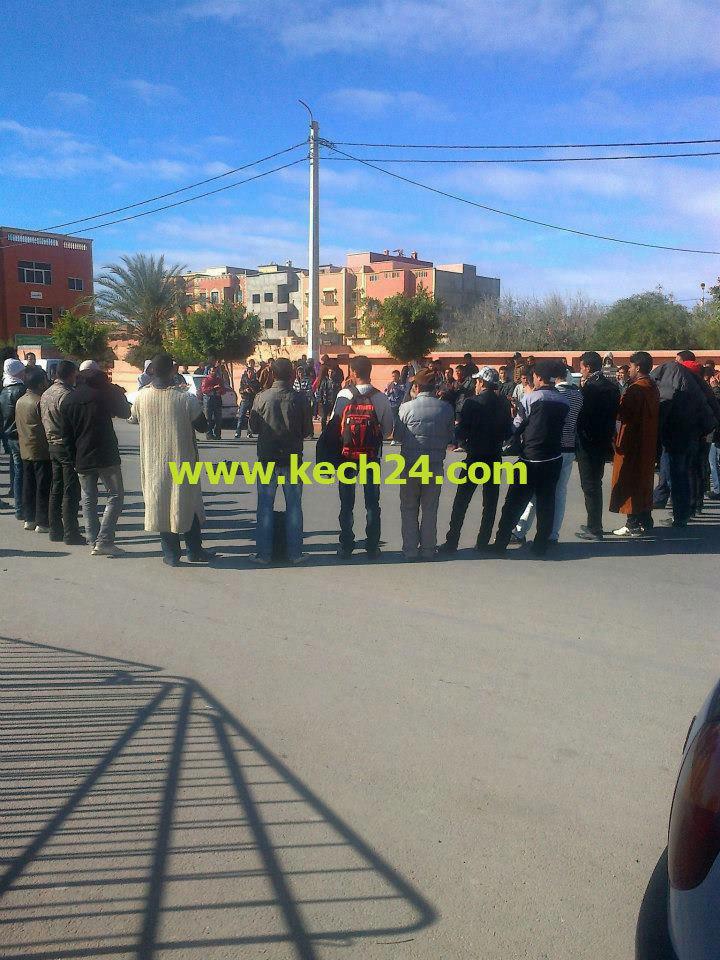 القوات العمومية تمنع بقوة مسيرة إحتجاجية لطلبة شيشاوة