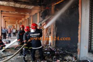 عاجل : حريق مهول باحد محلات الطورطيا بحي رياض لعروس بمراكش