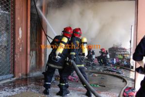 عاجل : حريق مهول بسوق مرجان طريق الدارالبيضاء