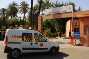 طائرة مروحية تقل عامل عمالة زاكورة الى قسم الإنعاش بمستشفى ابن طفيل بمراكش بعد إصابته بغيبوبة
