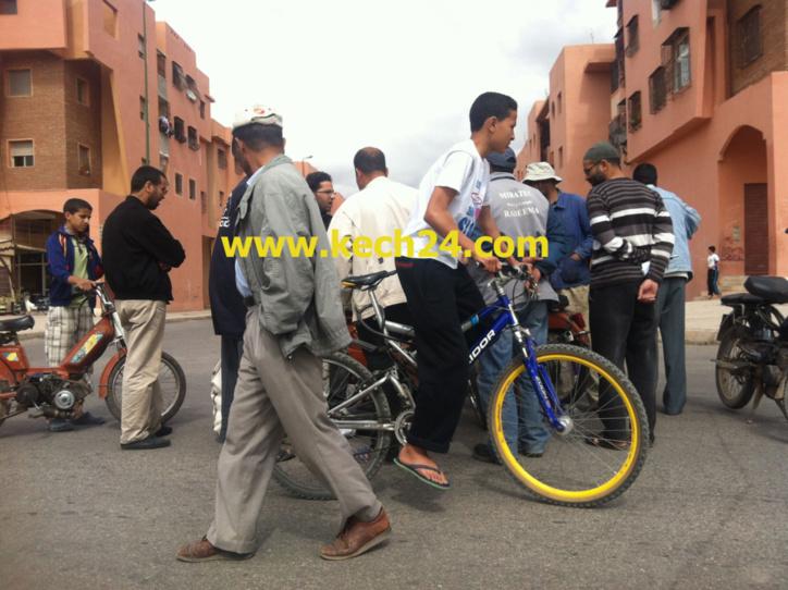 إصطدام دراجتين ناريتين بالمحاميد + صور حصرية