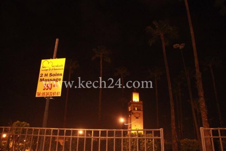 شوهة : اين مسؤولي مراكش؟؟، عندما تستغل ساحة الكتبية لوضع إعلانات خاصة بالمساج