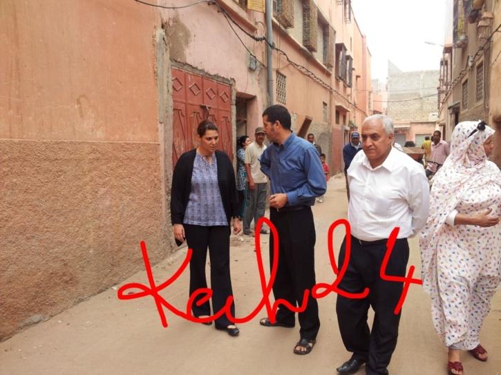 المنصوري تقوم بزيارة لتتبع الأشغال البلدية بسيدي يوسف