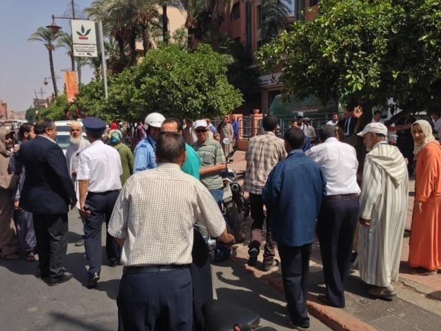 مسيرة احتجاجية لتجار سوق إيزيكي تستنفر أمن مراكش