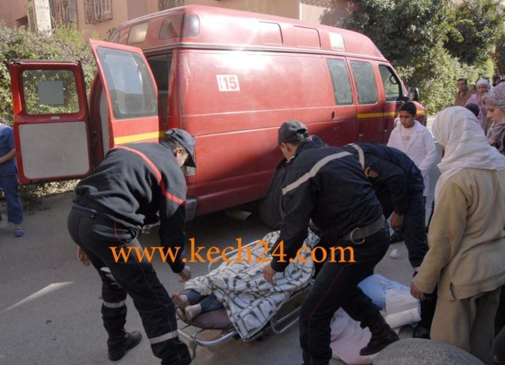 إصابة شخصين في حادثة سير خطيرة بإمنتانوت
