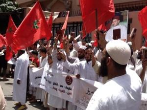عاجل : قرار إغلاق دور القران يحشد ازيد من 2000 من اتباع الشيخ المغراوي بجميع مناطق مراكش