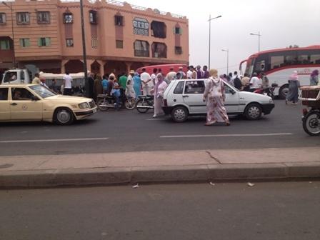 فرار سائق سيارة بعد إرتكابه لحادثة سير بالمحاميد و