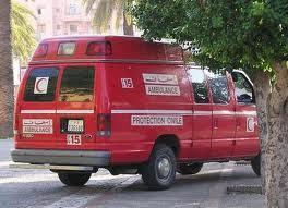 شاحنة محملة بالمواد الغذائية تتسبب في حادثة سير قرب قلعة السراغنة