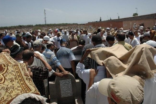 تشييع جثمان الراحل المصطفى ايت الصوابني من منزل والديه بدوار سيدي مبارك الى مقبرة دوار العسكر