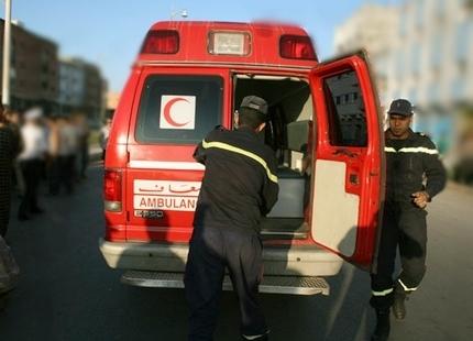 إصابة شخصين بجروح خطيرة في حادثة سير بمدخل مراكش