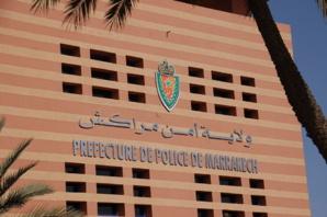 امن مراكش يلقي القبض على المتهم بالفرار بعد ارتكابه لحادثة سير كان ضحيتها شرطي بشارع محمد الخامس