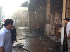 عاجل : حريق مهول بسوق السمارين بمراكش + صورة خاصة