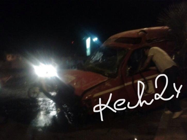 انقلاب سيارة إسعاف قرب حي السعادة بمراكش وهذه هي حصيلة الحادث + صورة حصرية