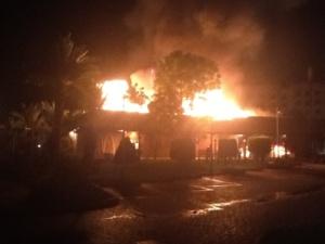 عاجل : ماكدونالدز طريق كازا يحترق بمراكش + أولى الصور