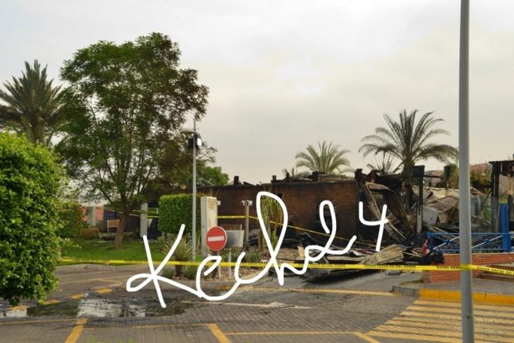 مابعد حريق ماكدونالدز بمراكش + صور حصرية