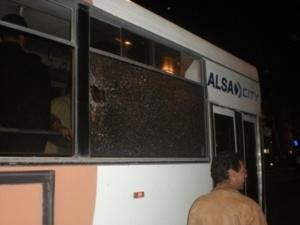 حصري :معركة في حافلة النقل الرابطة بين