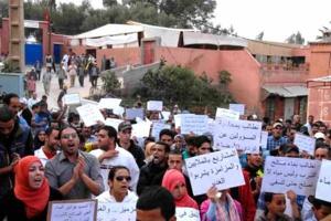 احتجاج بأمزميز بإقليم الحوز ضد العطش وتردي الأوضاع الصحية والاجتماعية