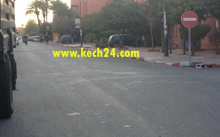 فوضى: صباغة أرصفة أحد شوارع الداوديات عاين باين + صور حصرية
