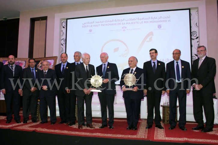 تسليم جائزة ابن رشد الدولية للأمير الحسن بن طلال وجان دانيال مؤسسة مجلة