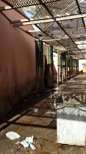 مناظر الواقع المرير الذي يعيشه ممر سيدي أحمد الكامل بحي الملاح في مراكش