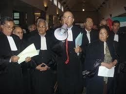 حوالي 600 محامي من هيئة مراكش يشاركون في الاحتجاج ضد الحكومة