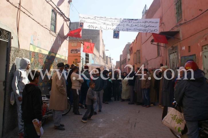 سكان حي اسبتيين بالمدينة العتيقة لمراكش تنتفض ضد لاقط هوائي خاص بشركة اينوي