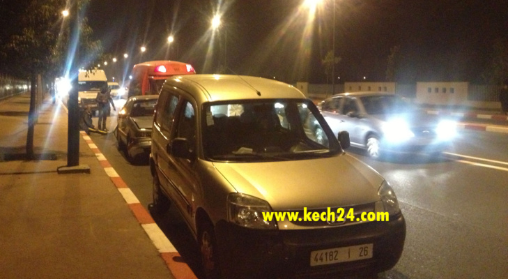 عاجل: إصطدام 4 سيارات في حادثة سير بالمحاميد + صور حصرية