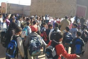 الخصاص يشعل احتجاجات آباء وأمهات تلاميذ مؤسسة تعليمية بسيدي الزوين نواحي مراكش