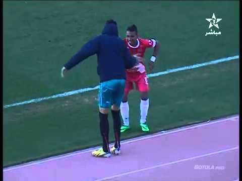 سفيان البهجة يرقص بعد هدفه في مرمى