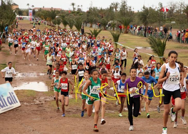 نادي أشبال مراكش ينجح في تنظيم العدو الريفي الدولي+ فيدو + صور