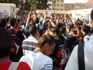 احتجاجات تلاميذية على النظام الجديد مسار النقط بنيابة مراكش يؤدي الى إصابة إطار تعليمي بجروح خطيرة
