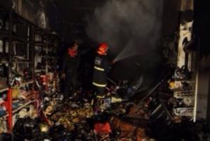 حريق يلتهم متجرا لبيع منتجات التجميل بالمحاميد في مراكش