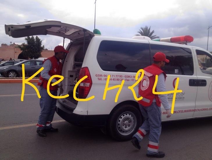 بالفيديو : حادثة سير وهمية للهلال الأحمر المغربي أمام ولاية الجهة