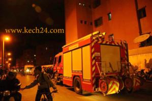 حريق مهول يأتي على منزل برياض لعروس بمراكش