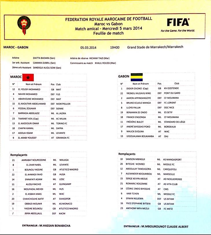 عاجل: تشكيلة المنتخب المغربي في مواجهة الغابون بمراكش