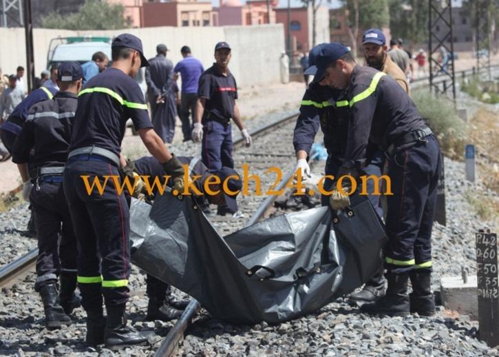 خطير : شخص يلقي بنفسه تحت عجلات القطار بمراكش