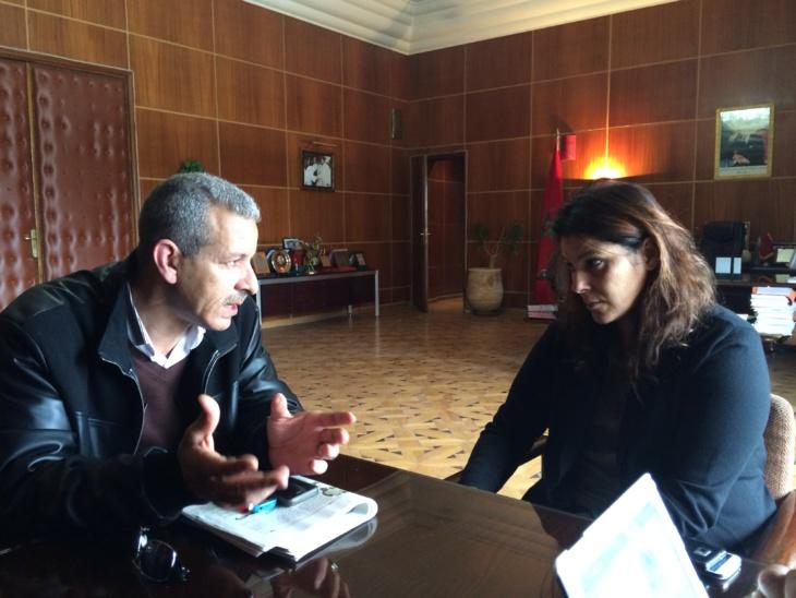 عمدة مراكش فاطمة الزهراء المنصوري تلتقي بأعضاء المكتب الجهوي للنقابة الوطنية للصحافة المغربية بمراكش